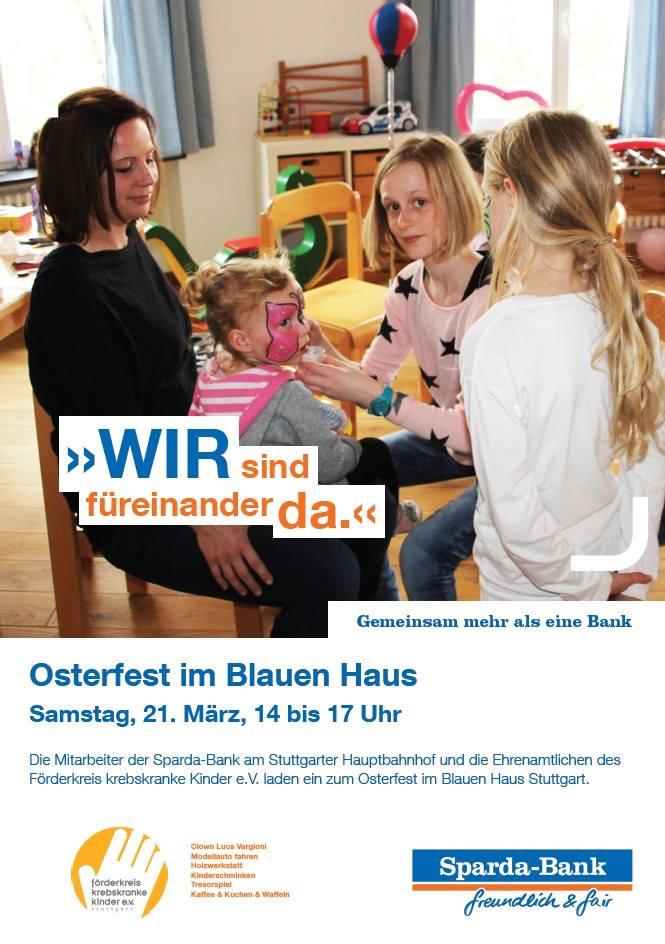 Willkommen zum Familien-Benefiz-Osterfest im Blauen Haus!